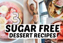 3 Sugar Free Vegan Desserts Recipes | Dairy Free, Diet Friendly, & Healthy Dessert Options | Sanne