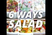 6 Ways Salad | Healthy Salad | Salad Recipe | How to Make Salad | Homemade Salad Recipe