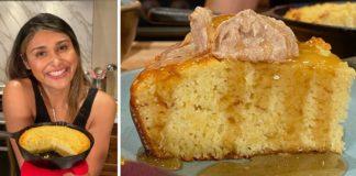 "BEST KETO CORNBREAD RECIPE EVER! How to Make Keto Cornbread with ""Honey Butter"""