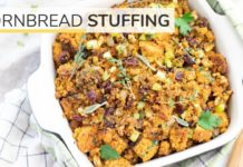 CORNBREAD STUFFING | easy, healthy, Thanksgiving recipe
