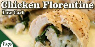 Chicken Florentine – Baked Chicken Rolls Ups – Low Carb Keto Recipe
