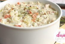 Creamy Turkey Wild Rice Soup ~ Got leftovers?  Make this!