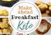 EASY KETO Breakfast Recipes | Keto Back to School | Gluten Free | Make Ahead Keto