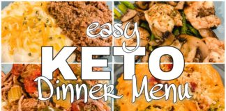 EASY KETO Dinner Ideas : Keto Dinner Menu For The Week | Suz and The Crew