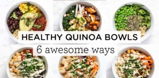 EASY & HEALTHY QUINOA BOWLS ‣‣ 6 Awesome Ways!