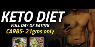 Full day of eating KETO DIET   CARBS- 21gms only   (with recipes) 🇮🇳
