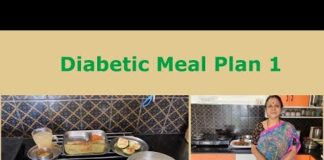 Healthy  Full Day  Diabetic Meal Plan  1 !!  Indian Vegetarian!!  Good for weight reduction !