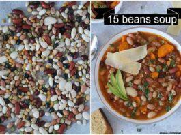 Instant Pot 15 beans soup | vegetarian 15 beans soup