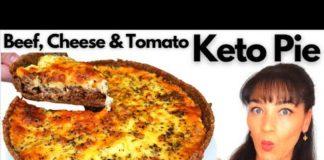 KETO RECIPE | Beef Cheese & Tomato Pie | 5g Net Carbs