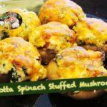 Ricotta Spinach Stuffed Mushrooms | Keto Recipes | Keto Side Dishes