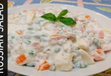Russian Salad Recipe With Healthy Twist ( Without Mayonnaise, Cream & Sugar) Weight Loss