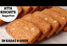 SUGARFREE ATTA BISCUIT Recipe In Kadhai & Oven | Whole Wheat Cookies (Hindi)