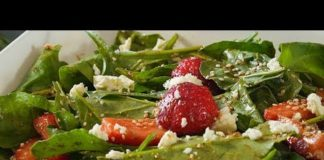 Strawberry Spinach Salad Recipe - Healthy Salad With Dressing - Weight Loss Salad Recipe - Smita