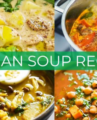 4 VEGAN SOUP RECIPES BECAUSE WINTER IS COMING :)