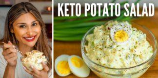 BEST KETO POTATO SALAD EVER! How to Make Potato Salad for Keto Thanksgiving Dinner! Only 3 Net Carbs