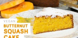 Butternut squash cake - easy vegan recipe