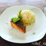 Cauliflower Rice with Grilled Salmon - Keto Recipe