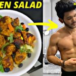 Easiest Chicken Salad Recipe for muscle building | Healthy Chicken Salad Indian | Fit Bite