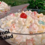 Easy Macaroni Fruit Salad Recipe | How to Make Macaroni Fruit Salad