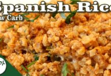 Easy Spanish Rice – Mexican Rice – Cauliflower – Low Carb Keto Recipe