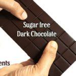 Homemade Dark Chocolate Recipe   How to make Dark Chocolate   Homemade Sugar free Dark Chocolate