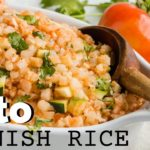 KETO SPANISH RICE RECIPE | EASY KETO SIDE DISH FOR MEAL PREP | CAULIFLOWER RICE