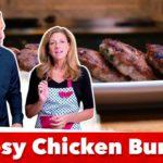 Keto Cheesy Chicken Burgers Recipe | Eric and Karen Berg