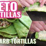 Mexican LOW CARB TORTILLAS keto friendly recipe