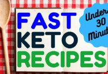 NEW! Fast Keto Recipes - 30 Minutes or Less! The DIRTY, LAZY, KETO No Time to Cook Cookbook #Ketosis