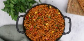 Quick and Simple Jollof Recipe (Vegan)