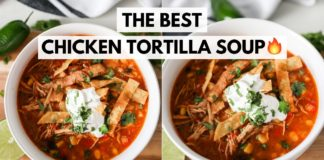 THE BEST CHICKEN TORTILLA SOUP    Easy Soup Recipe with TONS of Flavor!