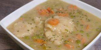 Vegetables and Dumplings Soup