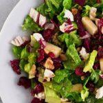 Winter Salad Recipe | Romaine, Radicchio, Apple & Walnuts