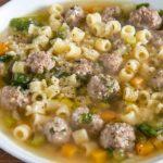 grandma's Italian WEDDING SOUP (meatball soup)