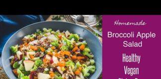 Broccoli Apple Salad Recipe (Healthy, Vegan)