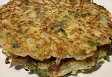 Cabbage Pancake an easy and healthy breakfast idea. A must try recipe.