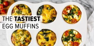EGG MUFFINS (3 WAYS) | healthy breakfast meal prep recipe