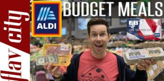 EXTREME ALDI Budget Haul With Full Day Of Healthy Recipes
