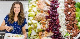 Healthy Autumn Chicken Salad Recipe + Easy Salad Dressing