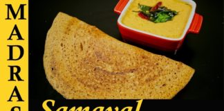 Healthy Dosa Recipe in Tamil | Paruppu Dosa Recipe in Tamil | Dosai and Red Coconut Chutney in Tamil