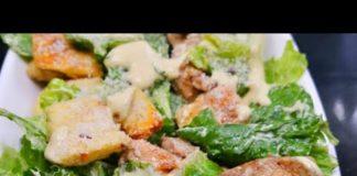 How to Make Chicken Caesar Salad at Home Caesar Salad Dressing recipe   Quick & Easy Salad Recipe