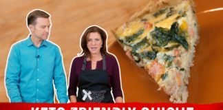 How to Make Quiche Keto Friendly Recipe | Karen and Eric Berg