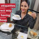 How to eat soup and bread, dining etiquettes