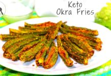 KETO OKRA FRIES (BAKED) | INDIAN KETO RECIPE | 5-Minute Kitchen