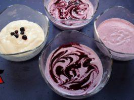 Keto Frozen Yogurt in 5 Minutes (No Machine) | Vanilla & Blueberry Frozen Yogurt | Sugar Free
