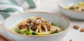 Keto Recipe - Sesame Almond Zoodle Bowl