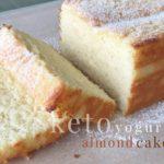 Keto Yogurt Almond Cake