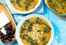Meatless Monday Creamy White Bean & Kale Soup: Creamy Fasolada