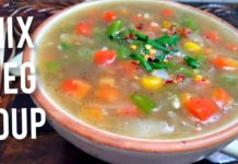 Mixed vegetable soup recipe l healthy & quick l mix vegetarian soup