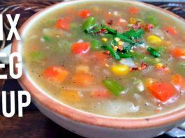Mixed vegetable soup recipe l healthy & quick l mix vegetarian soup